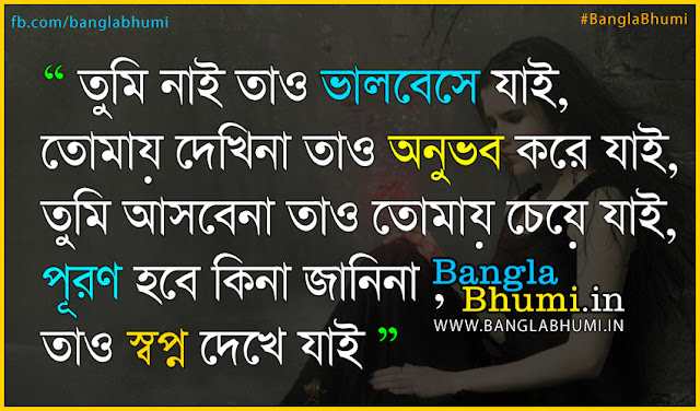 Bangla Sad Love Quote : Bangla Love : I Miss You