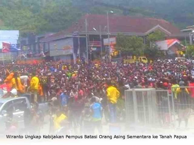 Wiranto Ungkap Kebijakan Pempus Batasi Orang Asing Sementara ke Tanah Papua
