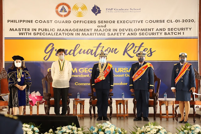 Philippine Coast Guard Officers with our Rosette Ribbon Leis