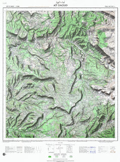 Ait-DAOUD Morocco 50000 (50k) Topographic map free download