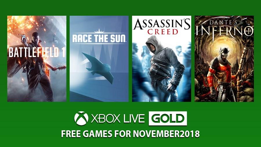 xbox live gold free games november 2018