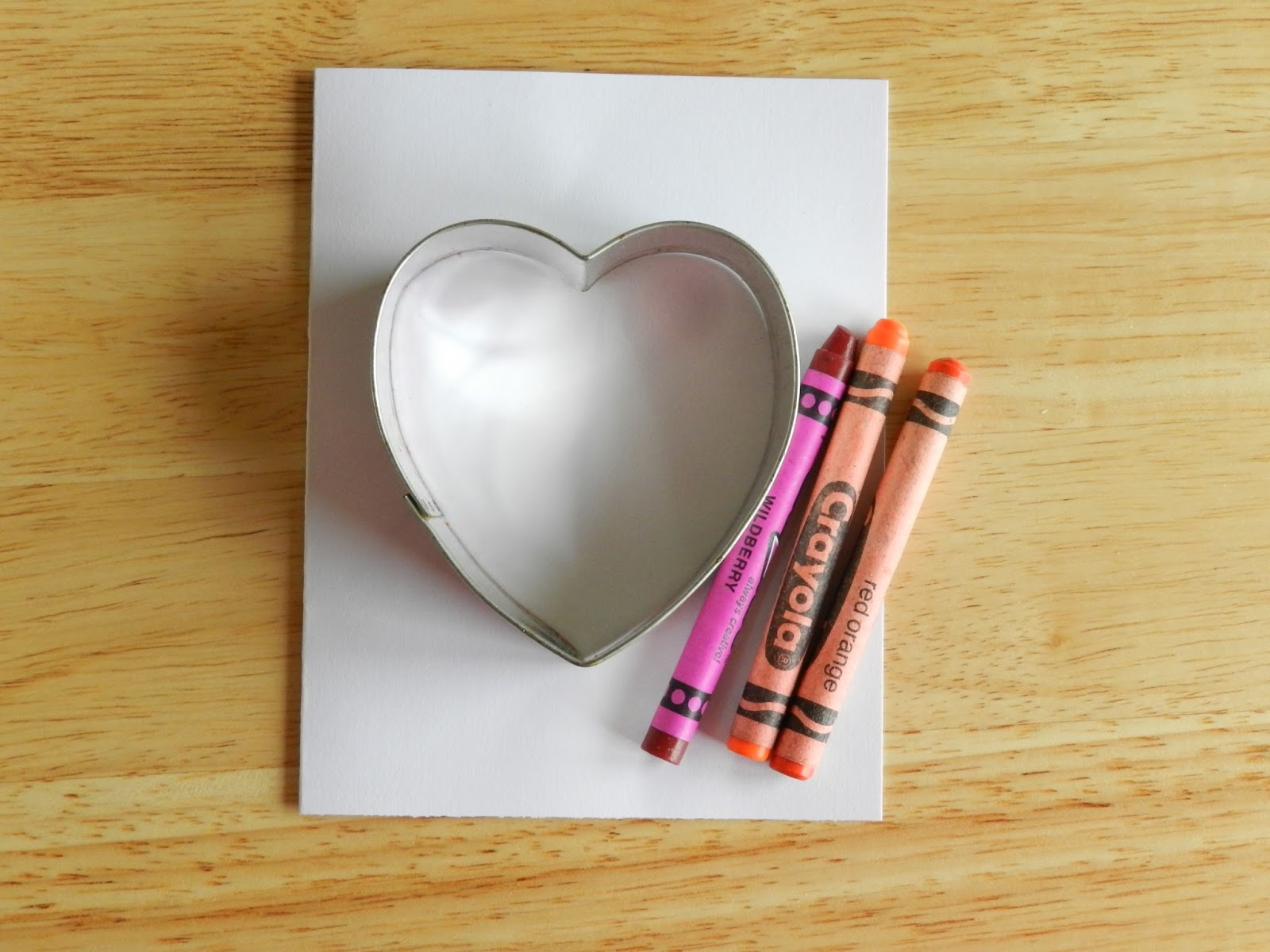 Heart Cookie Cutter and Crayons Card