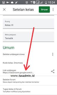 Copy link undangan google classroom