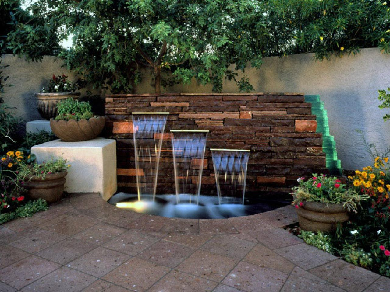 53 Inspirasi Desain Air Mancur Cantik Di Taman Rumahku Unik