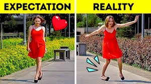 two girl pointing the Blogger: Expectations VS Reality