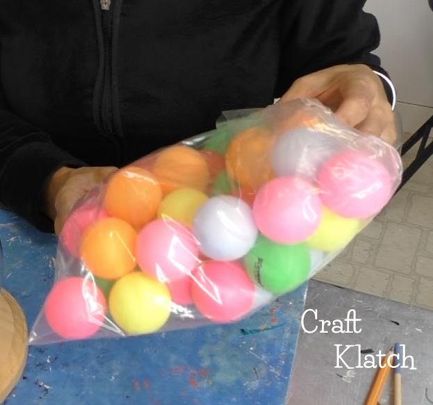Lamp DIY ideas using ping pong balls