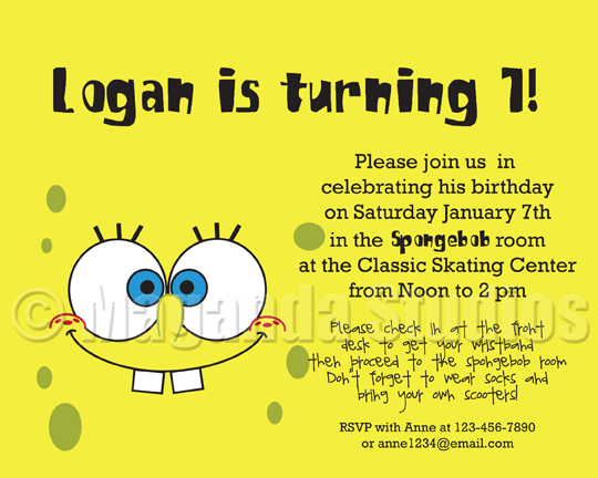 Spongebob Birthday Invitations Templates