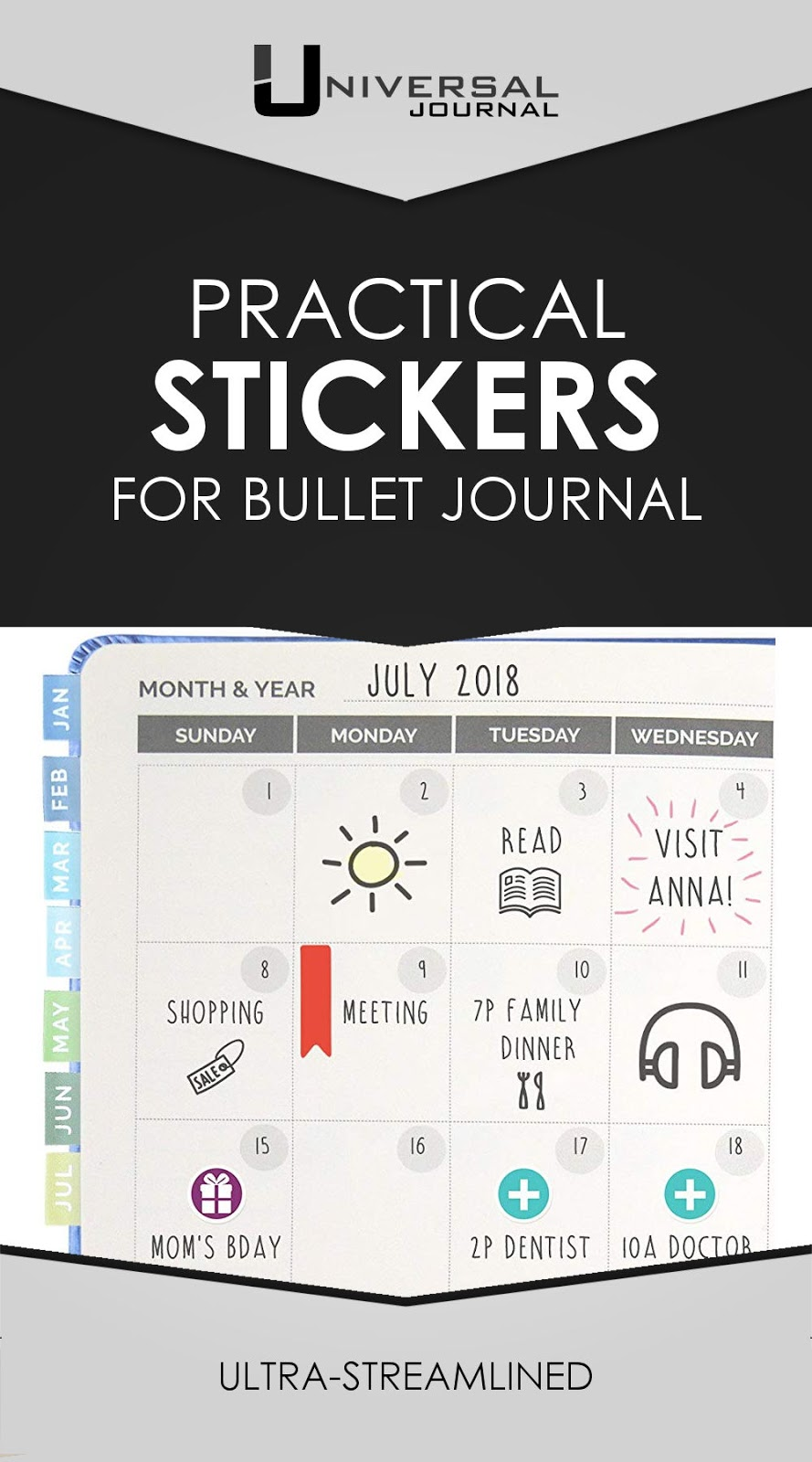 practical bullet journal stickers