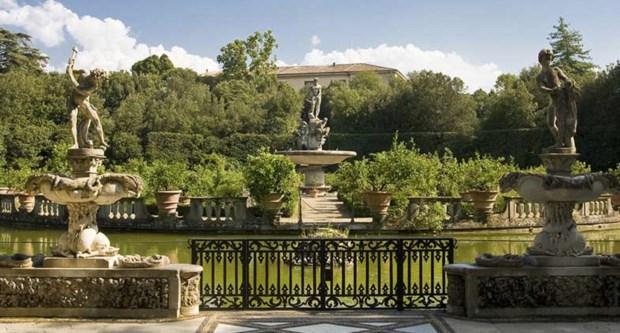 Obras no Jardins de Boboli em Florença