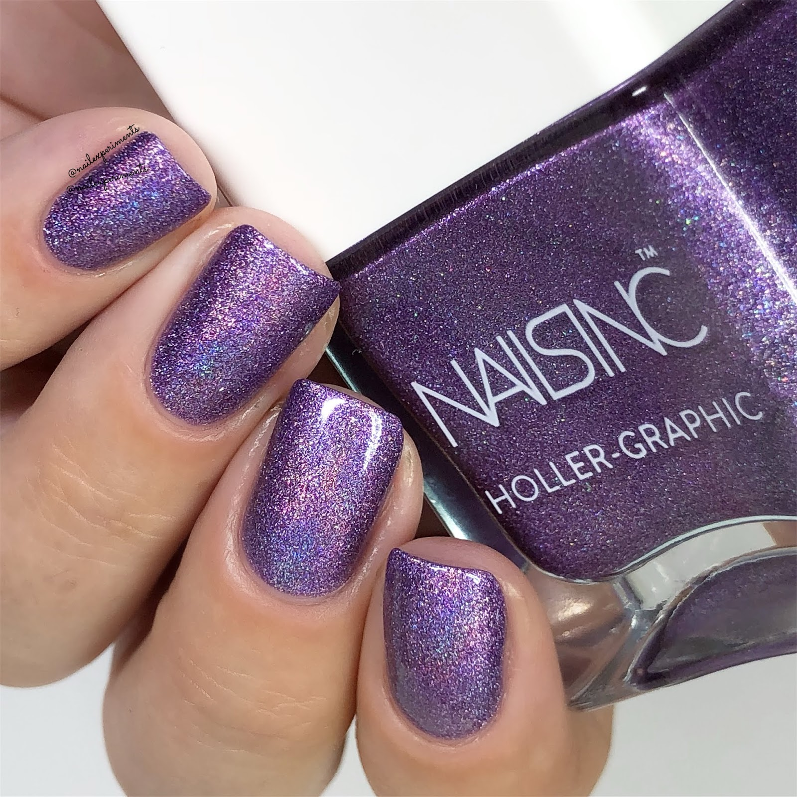 Nail Experiments: Nails Inc Holler-Graphic Spring 2018
