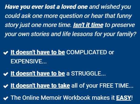 Online Memoir Workbook Software DOWNLOAD