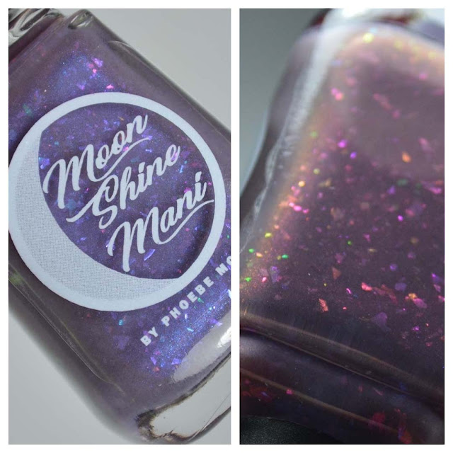 mauve flakie nail polish in a bottle