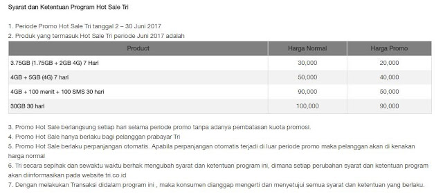 tri hot sale juni 2017