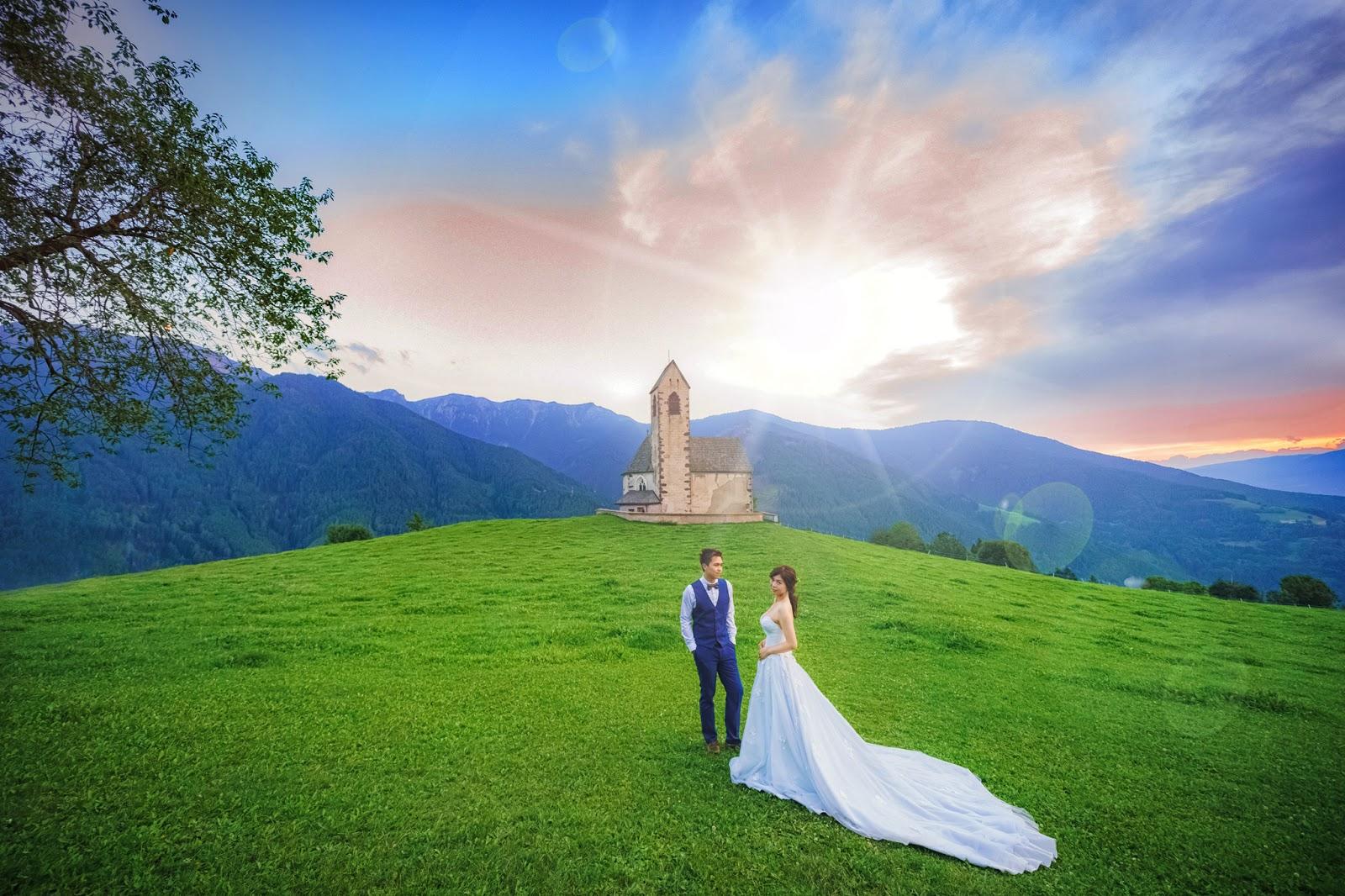 富內斯 多洛米蒂 Val di Funes Dolomiti 義大利婚紗 Bolzano 波扎諾  仙境婚紗 威尼斯婚紗 米蘭羅馬