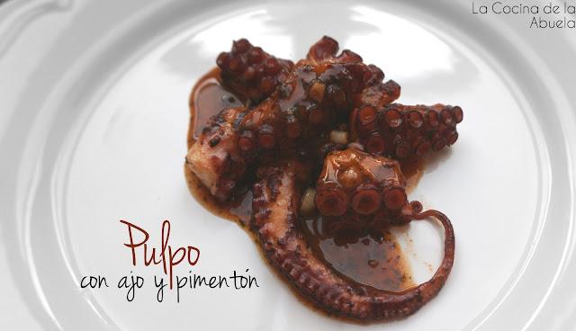 Pulpo con Ajo y Pimentón