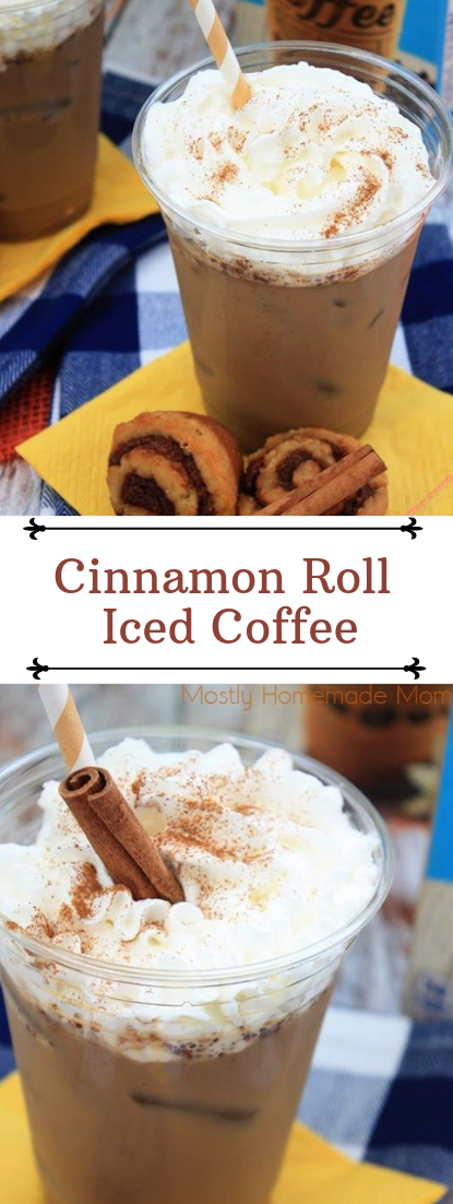 Cinnamon Roll Iced Coffee #cocktail #smoothie