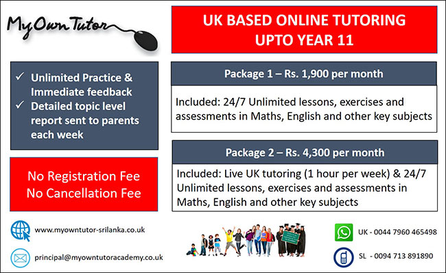 My Own Tutor - UK Renowned Online Tutoring System.