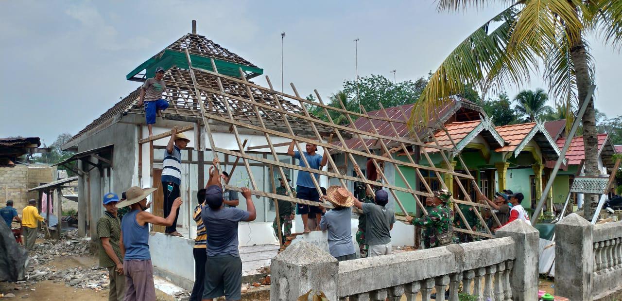 Binter Terpadu Tahun 2019, Kodim 1010/Rantau Sasar Rehabilitasi Musholla