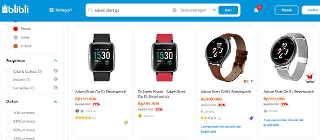 Smartwatch Advan Start Go di Blibli com