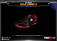 NBA 2K14 Peak Kyle Lowry 3 Signature