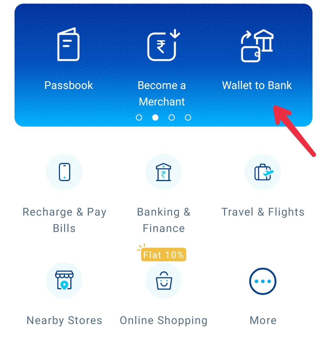 Paytm wallet to bank