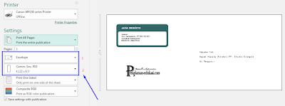 cara cetak tulisan di amplop