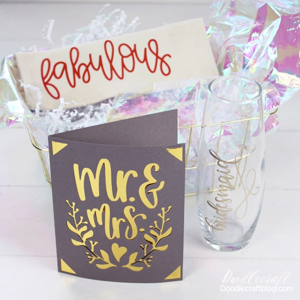 Is there a wedding in the future? Make a fabulous gift basket for the bridemaids and other wedding party with supplies from the dollar store.