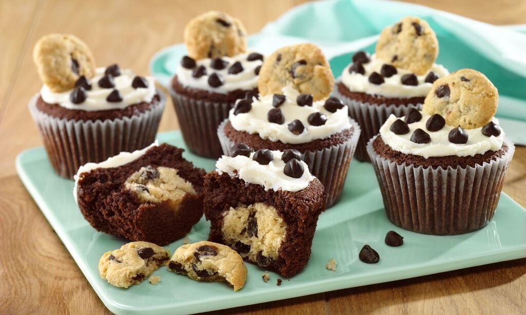 Chocolate Chip Cookie Cupcakes: