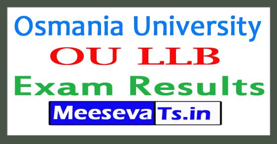 Osmania University LLB Exam Results 2017