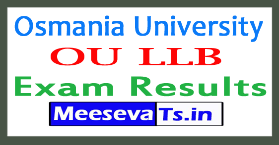 Osmania University LLB Exam Results 2018