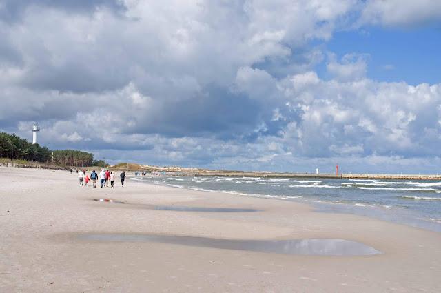 plaża w Łebie, morze, widok na plażę