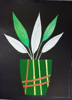 Flower pot drawing image