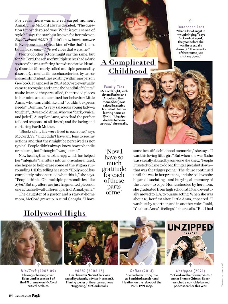 AnnaLynne McCord Featured in People Magazine-  June 2021