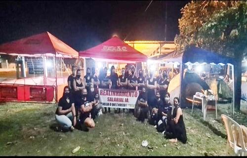 Esposas de PMs decidem montar acampamento em frente quartéis nesta quinta (10)