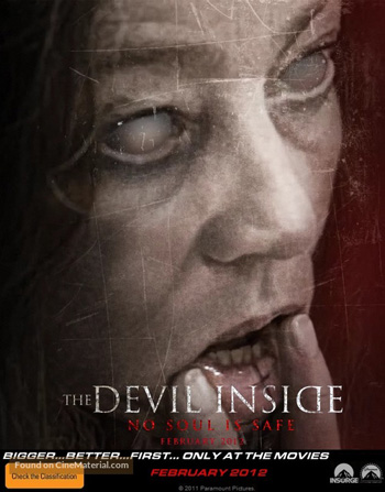 The Devil Inside 2012 Dual Audio ORG Hindi 480p BluRay 300MB ESubs poster