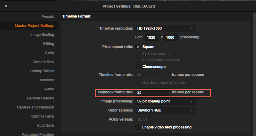 Luke Sim - Motion Graphics: Changing a timeline to 25 fps In