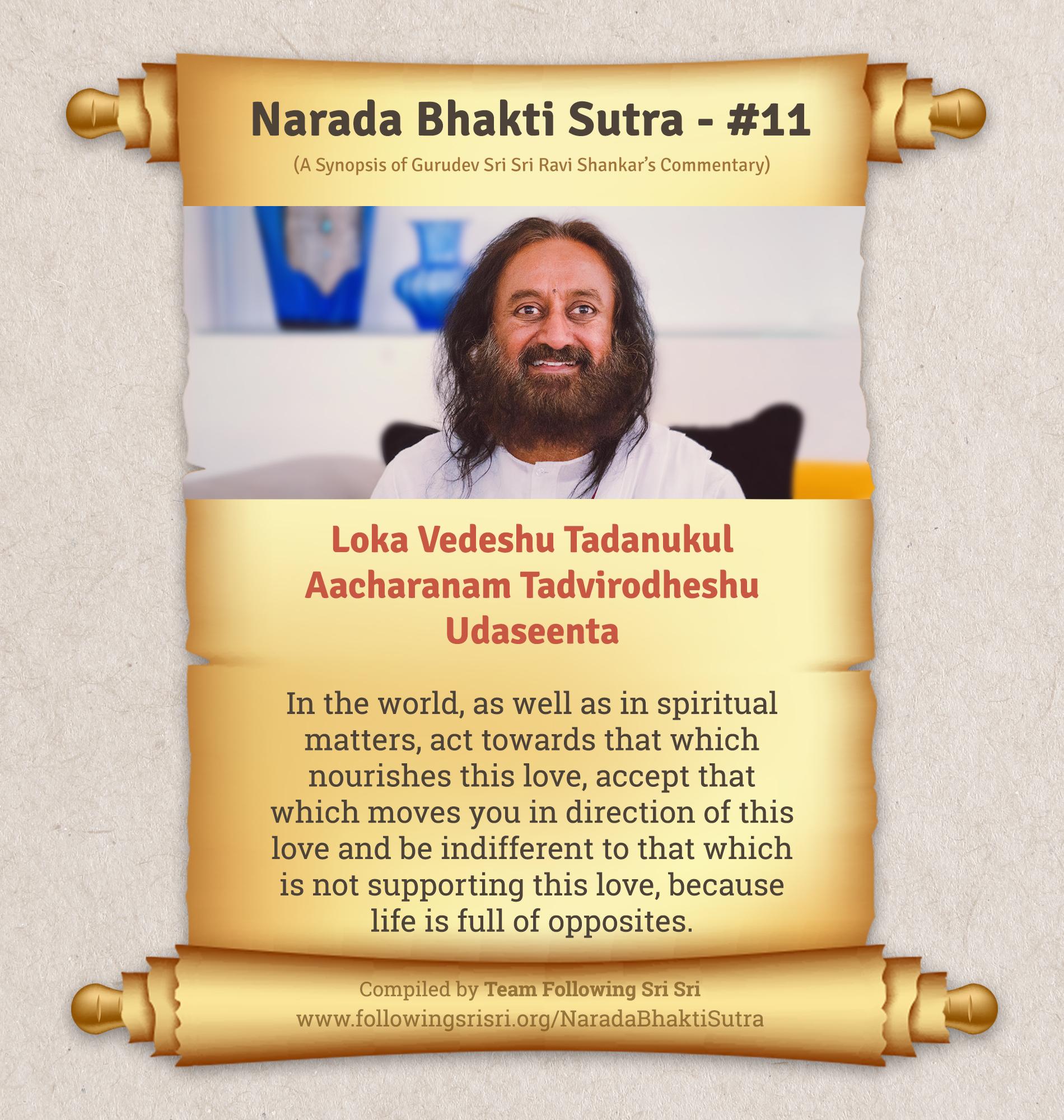 Narada Bhakti Sutras - Sutra 11