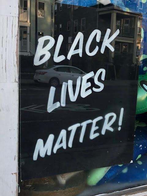 """Window sign, """"Black Lives Matter"""""""