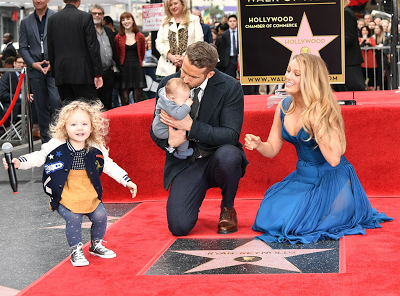 Ryan Reynolds and Blake Lively's children make their first public appearance at Hollywood Walk of Fame ceremony