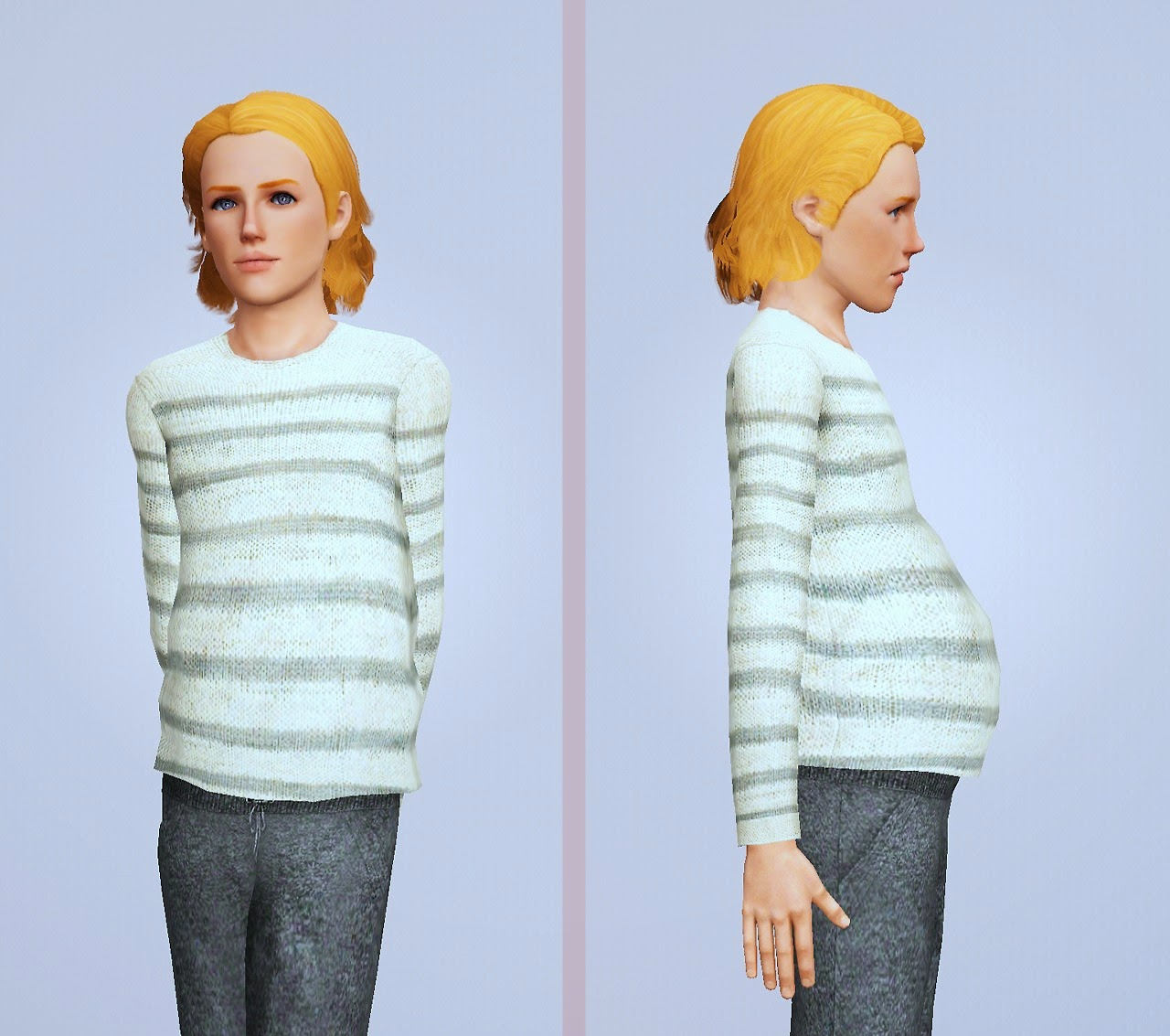 Sims male pregnancy clothes