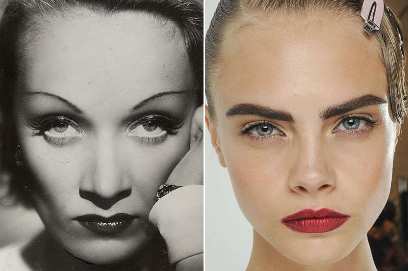 La historia de las cejas, de Marlene Dietrich a Cara Delevingne