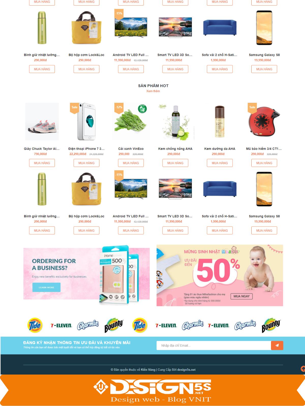 Mẫu Website Bán Hàng Tạp Hóa - Bách Hóa Xanh - Ảnh 2