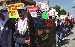 SMK Sakti Gemolong Mengikuti Karnaval HUT RI Ke 72 Sekecamatan Gemolong