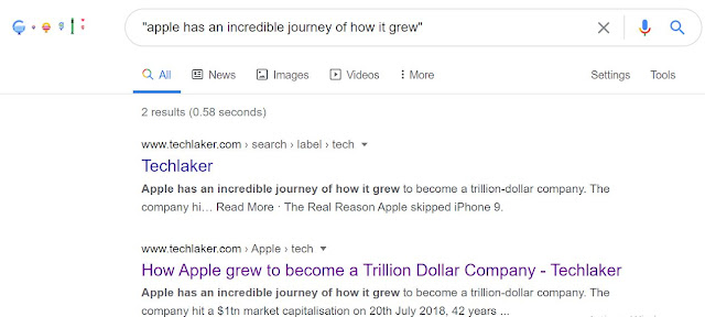 Search Google using quotations to find phrases
