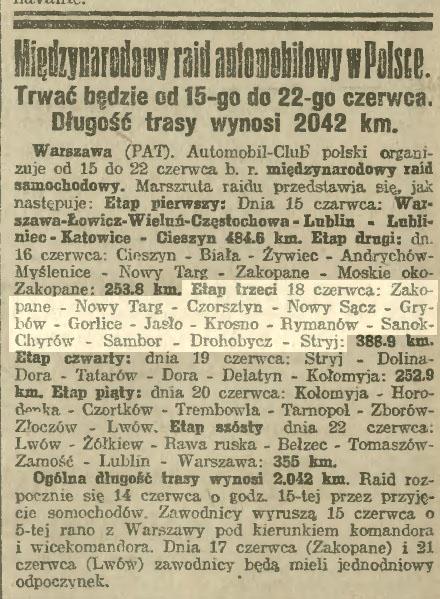 Międzynarodowy rajd automobilowy 1923
