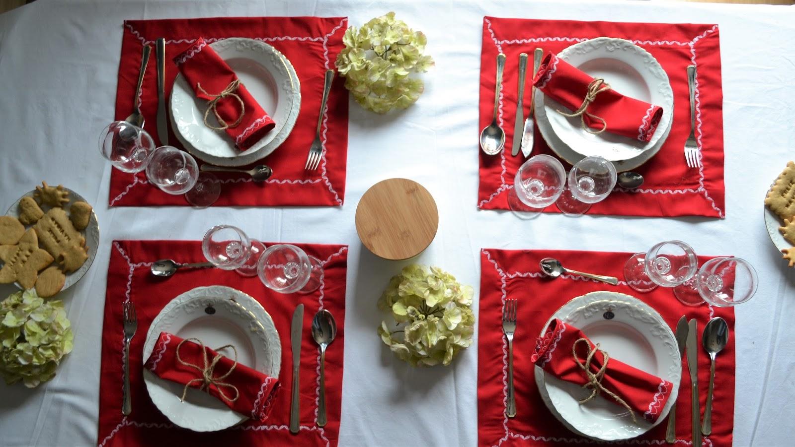 Manteles de navidad for Manteles individuales de tela