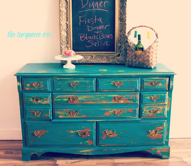 The Turquoise Iris Furniture Amp Art Teal Buffet Dresser