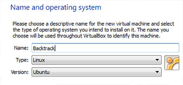 Backtrack on Virtualbox