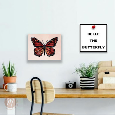 belle-butterfly-painting-by-merrill-weber