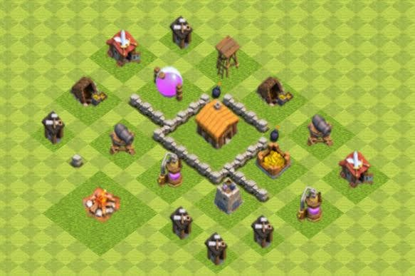 Base COC TH2 Farming 4